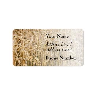Field Of Wheat, Golden Grains Personalized Address Label