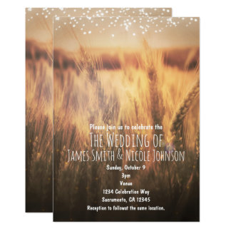 Field of Wheat Rustic Country Wedding Invitations
