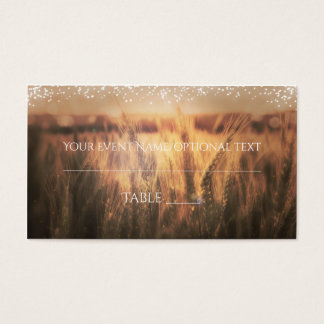 Field of Wheat Rustic Wedding Table Place Card