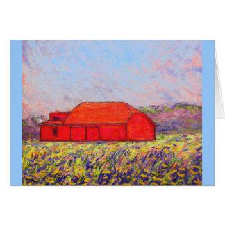 field of wild purple iris card