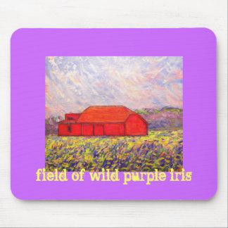 field of wild purple iris mouse pad