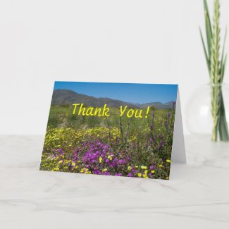 Field of Wildflowers Thank You Card card