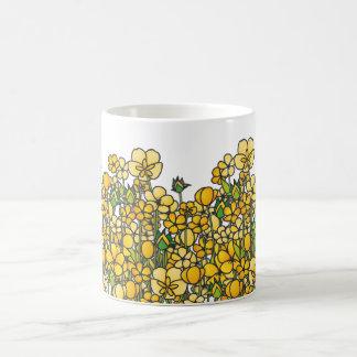 Field of yellow Buttercup flowers Coffee Mug