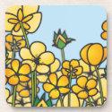 Field of yellow Buttercup flowers