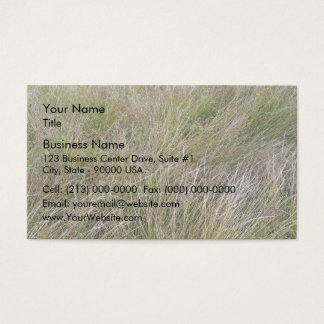 Field of Yellow Dry Grass and Hedge Business Card