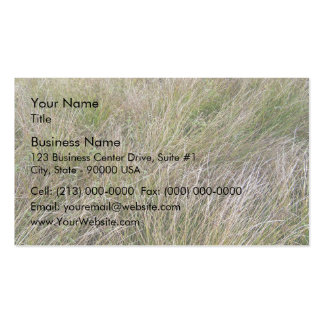 Field of Yellow Dry Grass and Hedge Double-Sided Standard Business Cards (Pack Of 100)