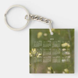 Field of Yellow Flowers; 2013 Calendar Keychain