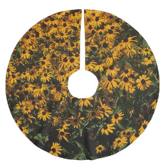 Field of Yellow Flowers Brushed Polyester Tree Skirt