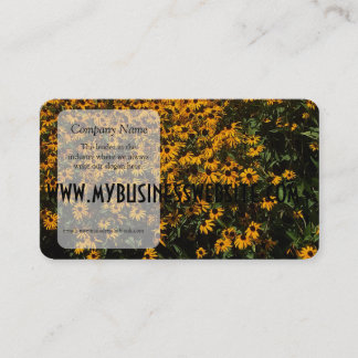 Field of Yellow Flowers Business Card
