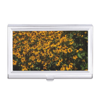 Field of Yellow Flowers Business Card Case