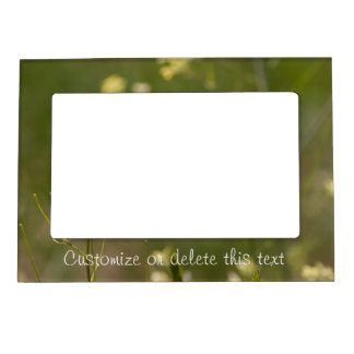 Field of Yellow Flowers; Customizable Magnetic Picture Frame