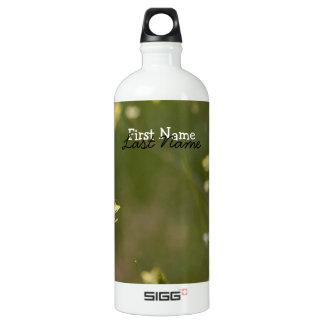 Field of Yellow Flowers; Customizable Water Bottle