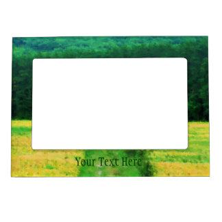 Field Of Yellow Flowers Nature Magnetic Frame