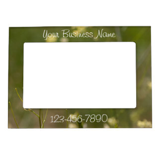 Field of Yellow Flowers; Promotional Magnetic Frame