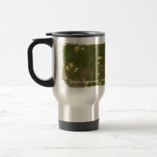 Field of Yellow Flowers; Promotional Travel Mug
