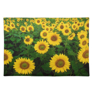 Field of Yellow Sunflowers Flowers Placemat