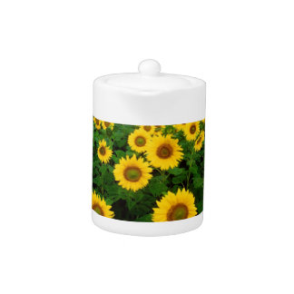 Field of Yellow Sunflowers Teapot