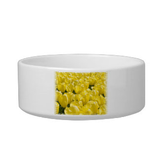 Field of Yellow Tulips Pet Food Bowls