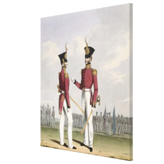 Field Officers of the Royal Marines, plate 2 from Gallery Wrap Canvas
