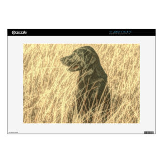 "Field  Outdoorsman Hunting Dog Puppy Black lab Skins For 15"" Laptops"