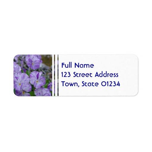 Field Pansies Return Address Labels