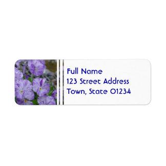 Field Pansies Return Address Label