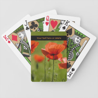 Field Poppies - Customize Bicycle Playing Cards