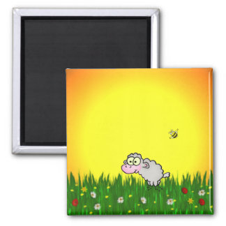 Field Sheep Refrigerator Magnets