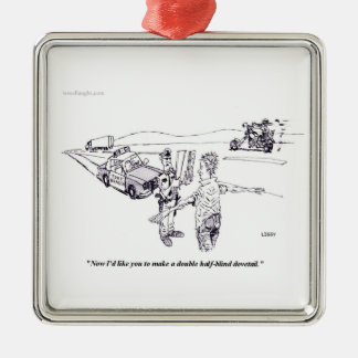 Field Sobriety Test Square Ornament