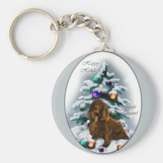 Field Spaniel Christmas Gifts Key Chains