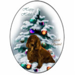 Field Spaniel Christmas Gifts Ornament Photo Sculpture Ornament