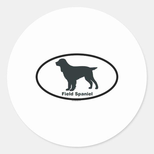 Field Spaniel Classic Round Sticker