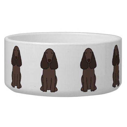 Field Spaniel Dog Cartoon Pet Food Bowl