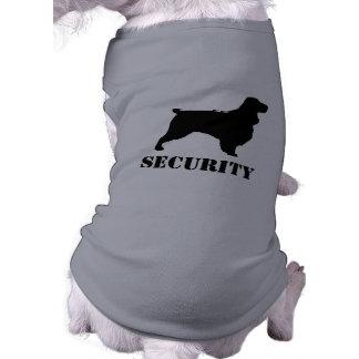 Field Spaniel Silhouette with Custom Text Shirt