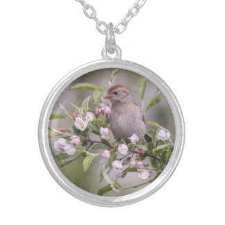 Field Sparrow Personalized Necklace
