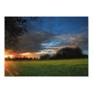 Field Sunset Card