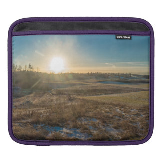 Field winter sunset iPad sleeve