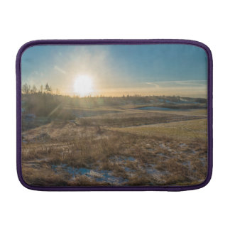Field winter sunset MacBook air sleeve