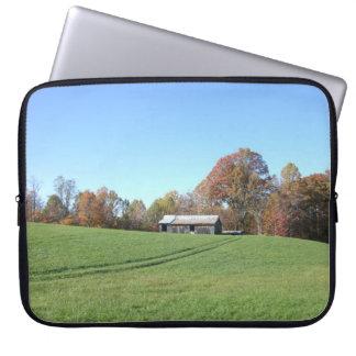 Field With Barn Computer Sleeve