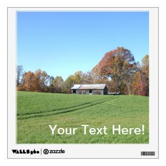 Field With Barn Wall Sticker