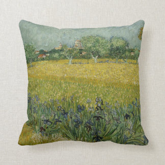 Field with flowers near Arles American MoJo Pillow