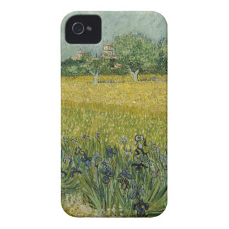 Field with flowers near Arles by Vincent Van Gogh iPhone 4 Case