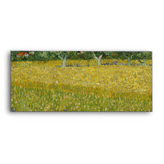 Field with flowers near Arles by Vincent Van Gogh Envelopes