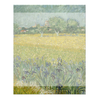 Field with Flowers Near Arles by Vincent Van Gogh Flyer
