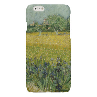 Field with flowers near Arles by Vincent Van Gogh Glossy iPhone 6 Case