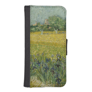 Field with flowers near Arles by Vincent Van Gogh iPhone 5 Wallet
