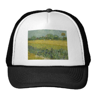 Field with flowers near Arles by Vincent Van Gogh Trucker Hat
