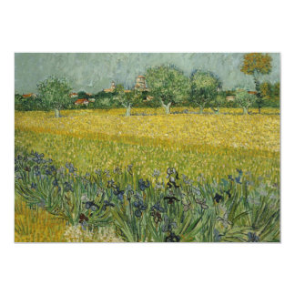 Field with flowers near Arles Invitation