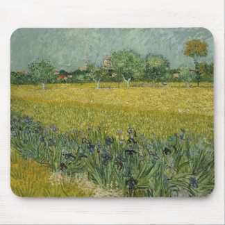 Field with flowers near Arles Mousepad