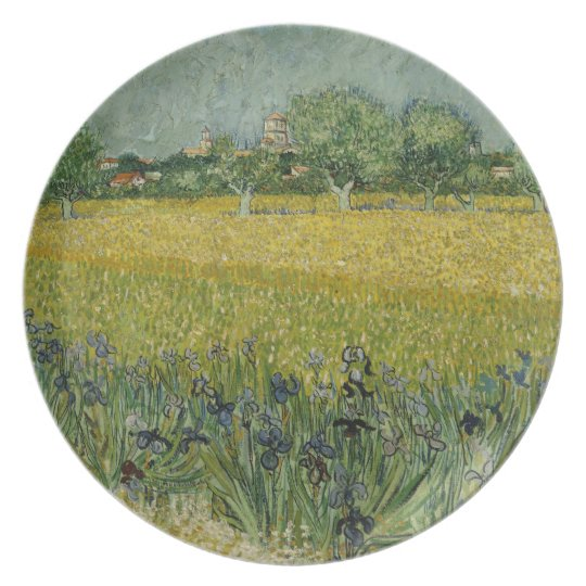 Field with flowers near Arles Plate